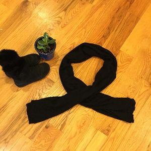 Nordstrom Black Cashmere Scarf/Shawl/Wrap